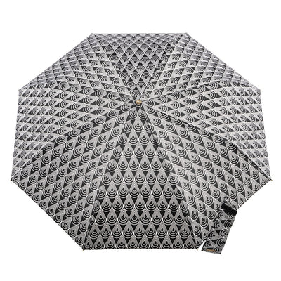 50th Anniversary Auto Open Close Umbrella in Raindrop Status Open Top View