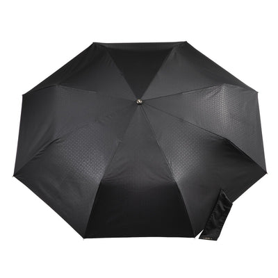50th Anniversary Auto Open Close Umbrella in Dark Plaid Open Top View