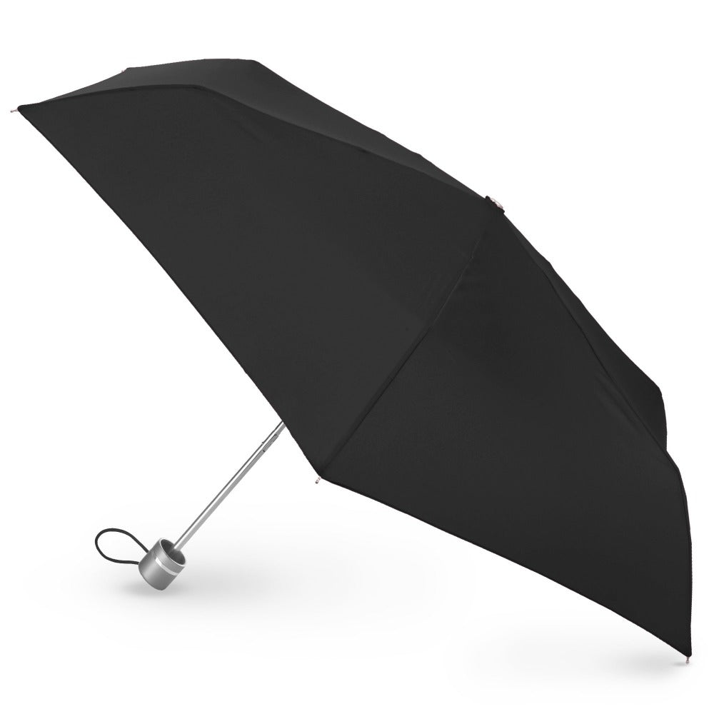 Super Slender Umbrella in Black Open Side Profile