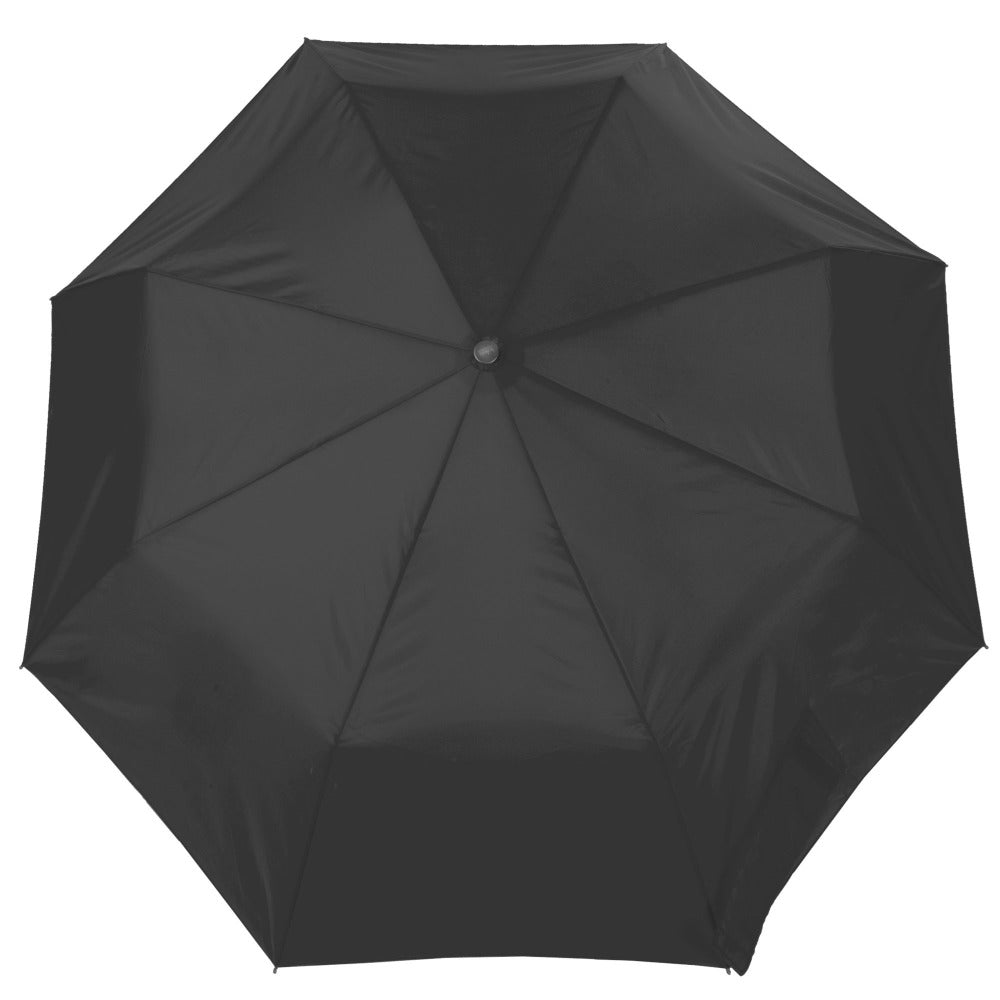 Super Slender Umbrella in Black Open Top View