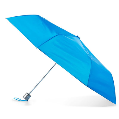 Super Slender Umbrella in Blue Open Side Profile