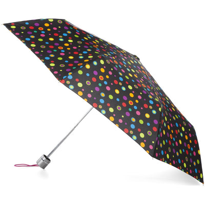 Super Slender Umbrella in Neon Dots Open Side Profile