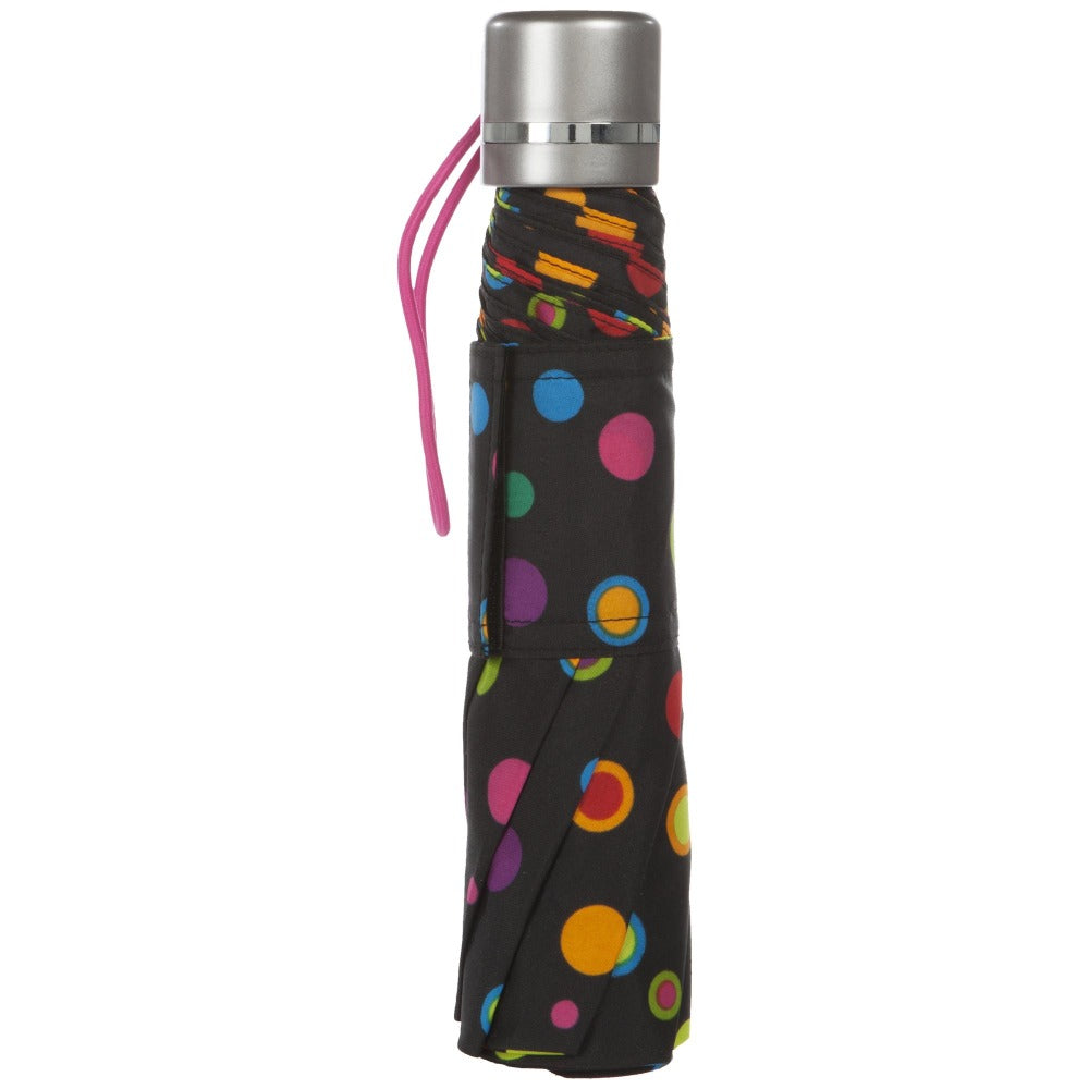 Super Slender Umbrella in Neon Dots Closed