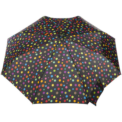Super Slender Umbrella in Neon Dots Open Top View
