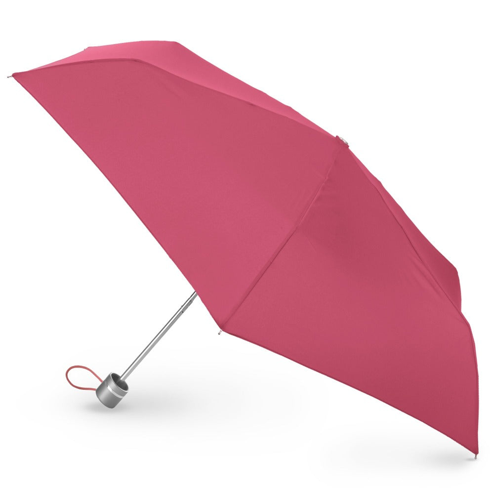 Super Slender Umbrella in Magenta Open Side Profile