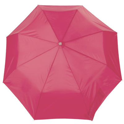 Super Slender Umbrella in Magenta Open Top View
