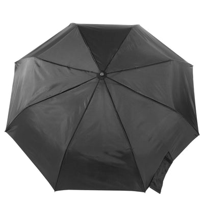 Auto Open/Close Golf Size Umbrella in Black Open Top View
