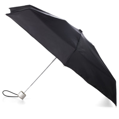 Manual Umbrella with NeverWet® in Black Open Side Profile