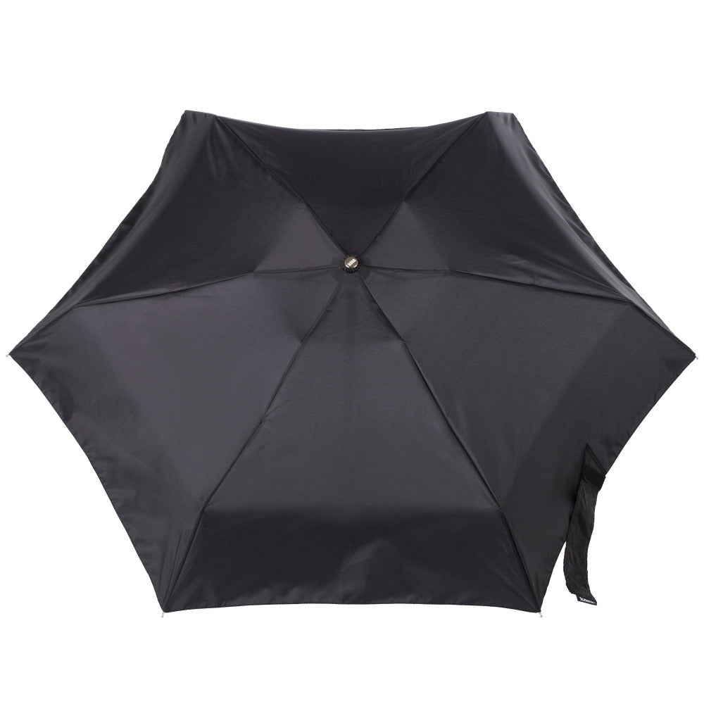 Manual Umbrella with NeverWet® in Black Open Top View