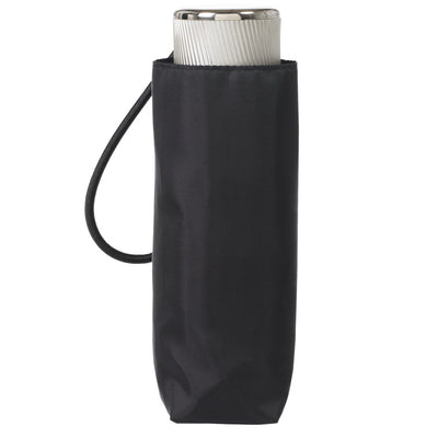 Manual Umbrella with NeverWet® in Black Closed In Carrying Case