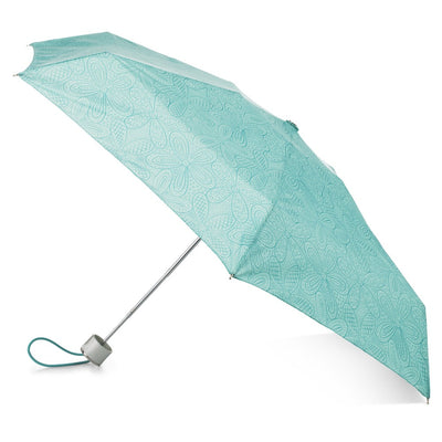 Manual Umbrella with NeverWet® in Blue Floral Burst Open Side Profile