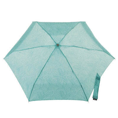 Manual Umbrella with NeverWet® in Blue Floral Burst Open Top View