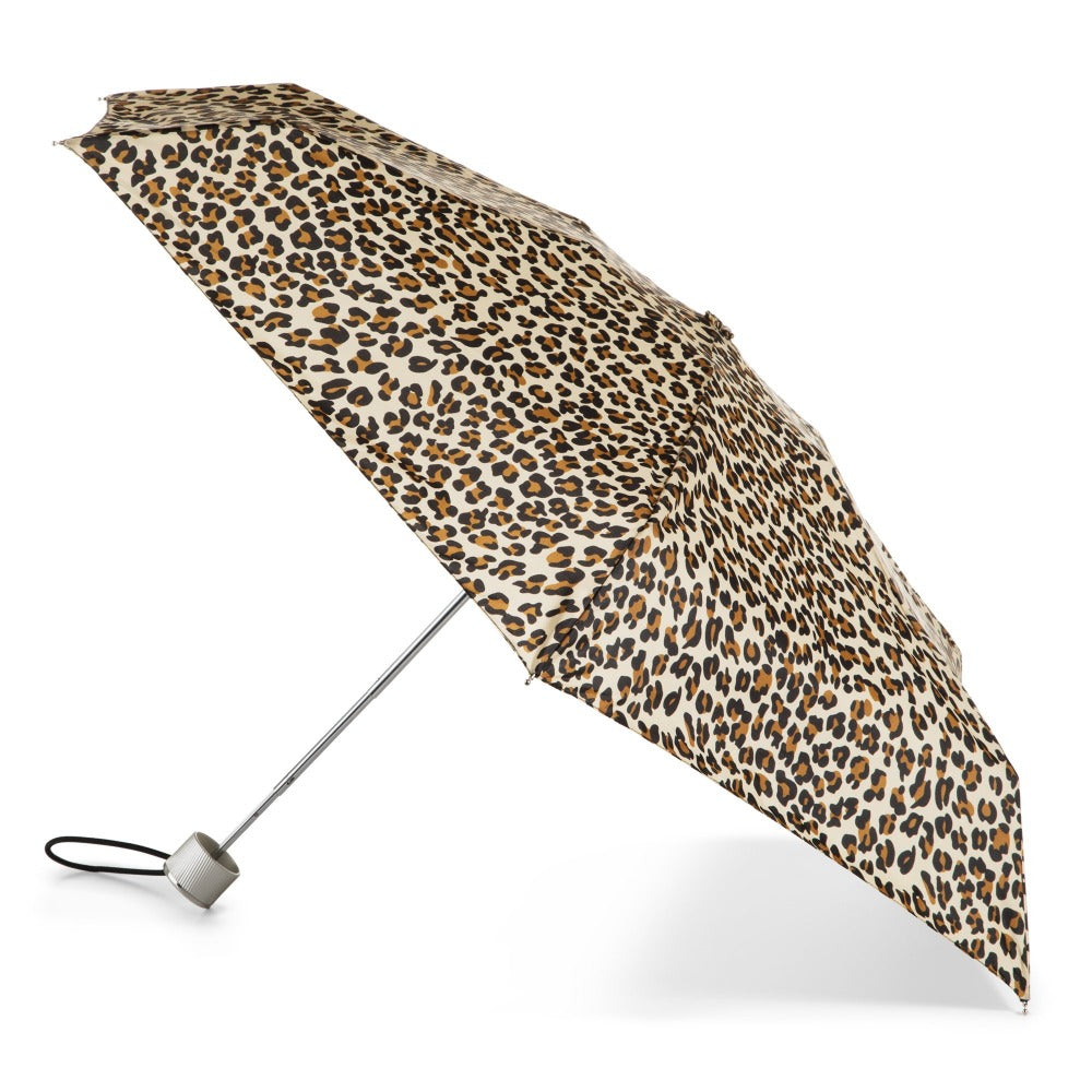 Manual Umbrella with NeverWet® in Leopard Spotted Open Side Profile