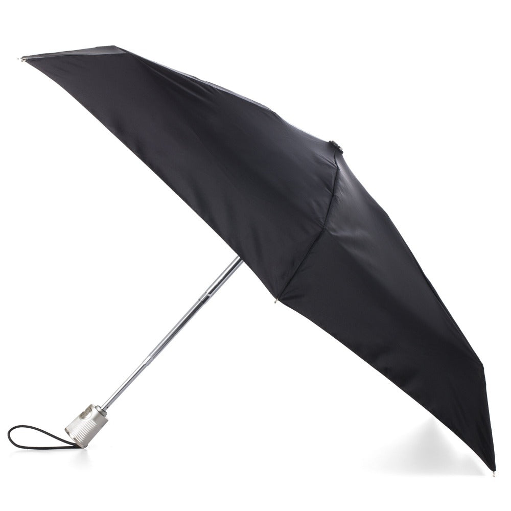 Auto Open Close Umbrella with NeverWet® in Black Open Side Profile