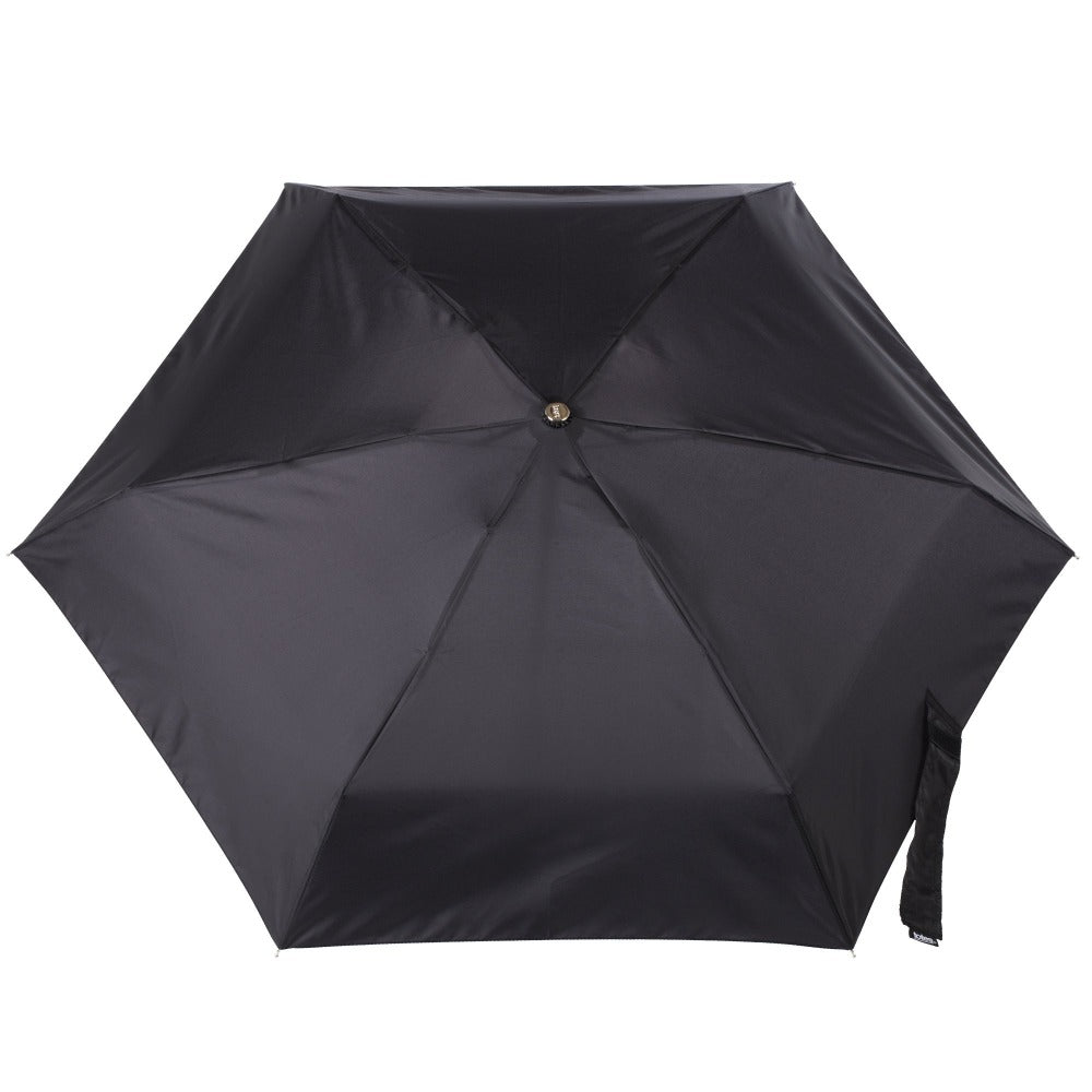 Auto Open Close Umbrella with NeverWet® in Black Open Top View