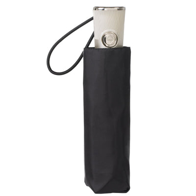 Auto Open Close Umbrella with NeverWet® in Black Closed in Carrying Case