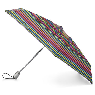 Auto Open Close Umbrella with NeverWet® in Skinny Stripe Open Side Profile