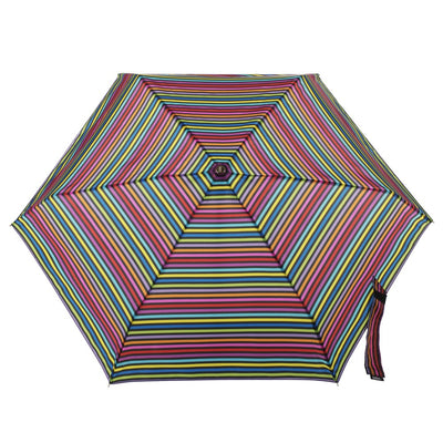 Auto Open Close Umbrella with NeverWet® in Skinny Stripe Open Top View
