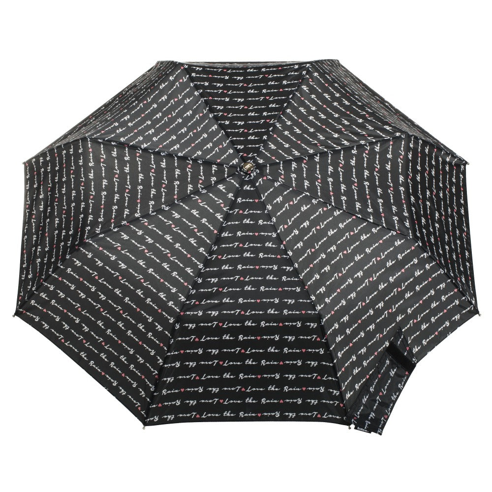 Limited-Edition Auto Open Umbrella in Love Letter Open Top View