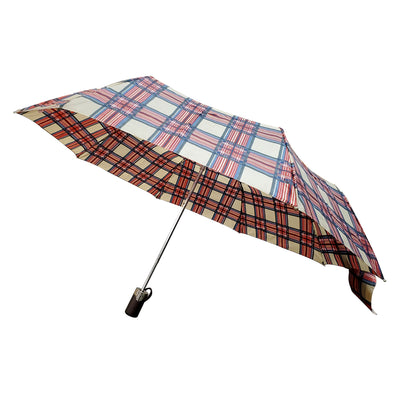 Limited-Edition Auto Open Umbrella in Heritage Plaid Right Angled Profile