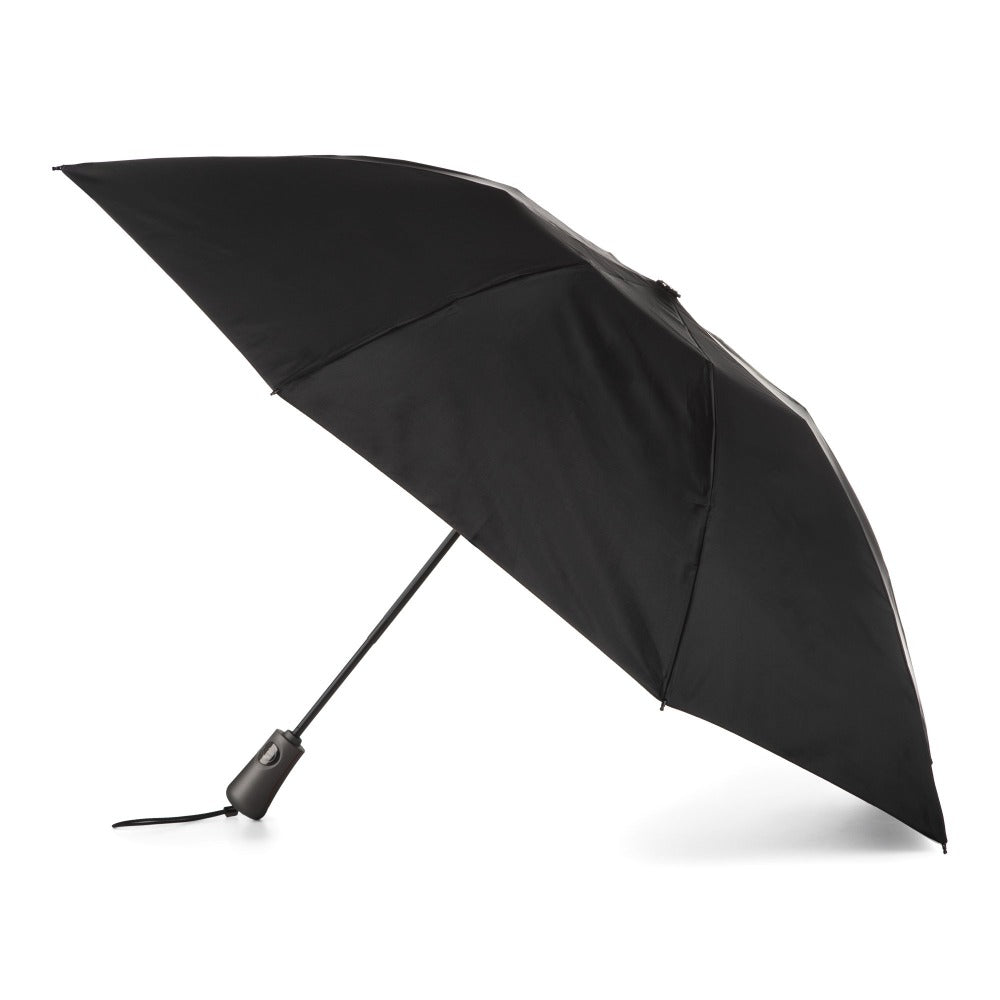 InBrella Reverse Close Folding Umbrella in Black Open Side Profile