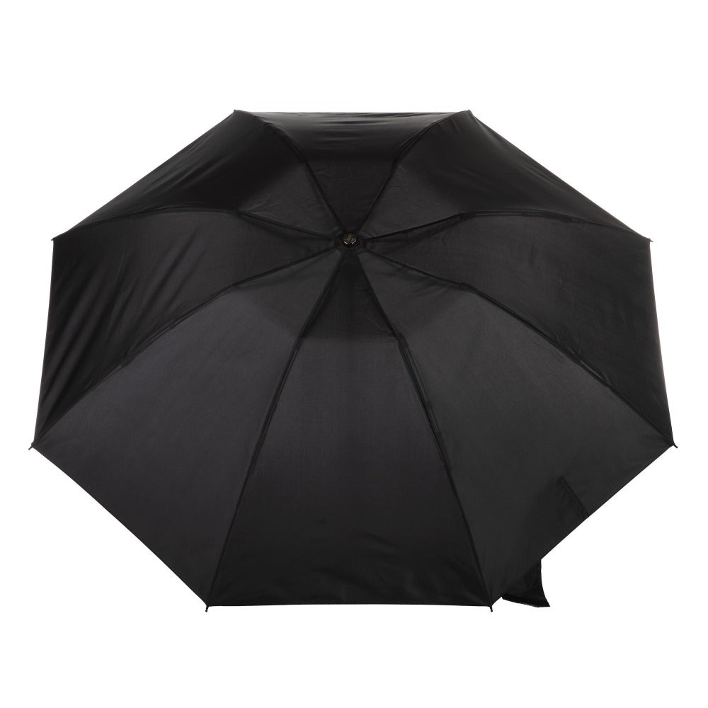 InBrella Reverse Close Folding Umbrella in Black Open Top View