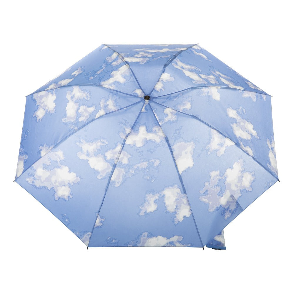 InBrella Reverse Close Folding Umbrella in Clouds Open Top View