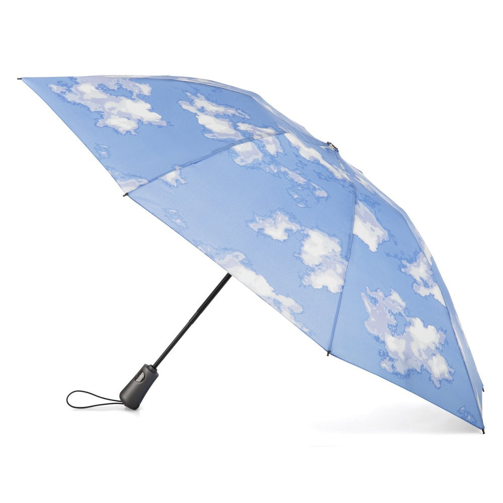 InBrella Reverse Close Folding Umbrella in Clouds Open Side Profile