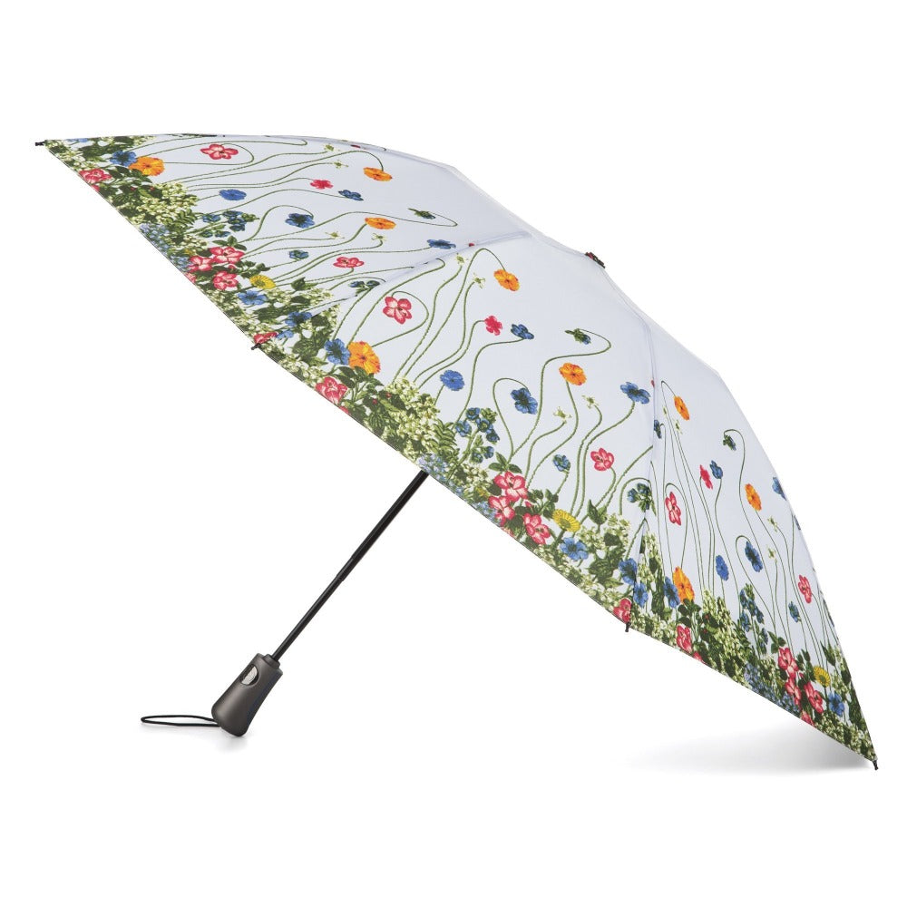 InBrella Reverse Close Folding Umbrella in Flower Garden Open Side Profile