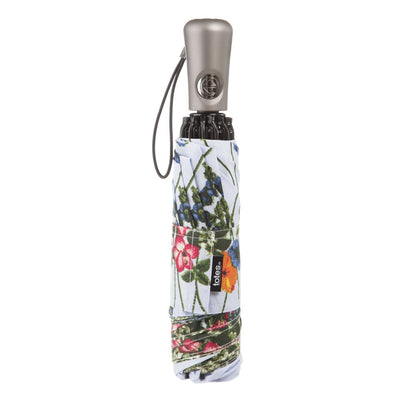 InBrella Reverse Close Folding Umbrella in Flower Garden Closed
