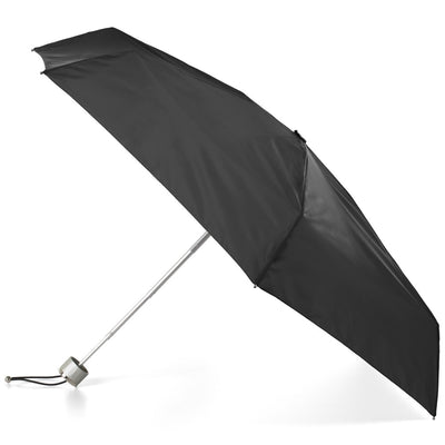 Mini Manual Umbrella With Neverwet in Black Open Side Profile