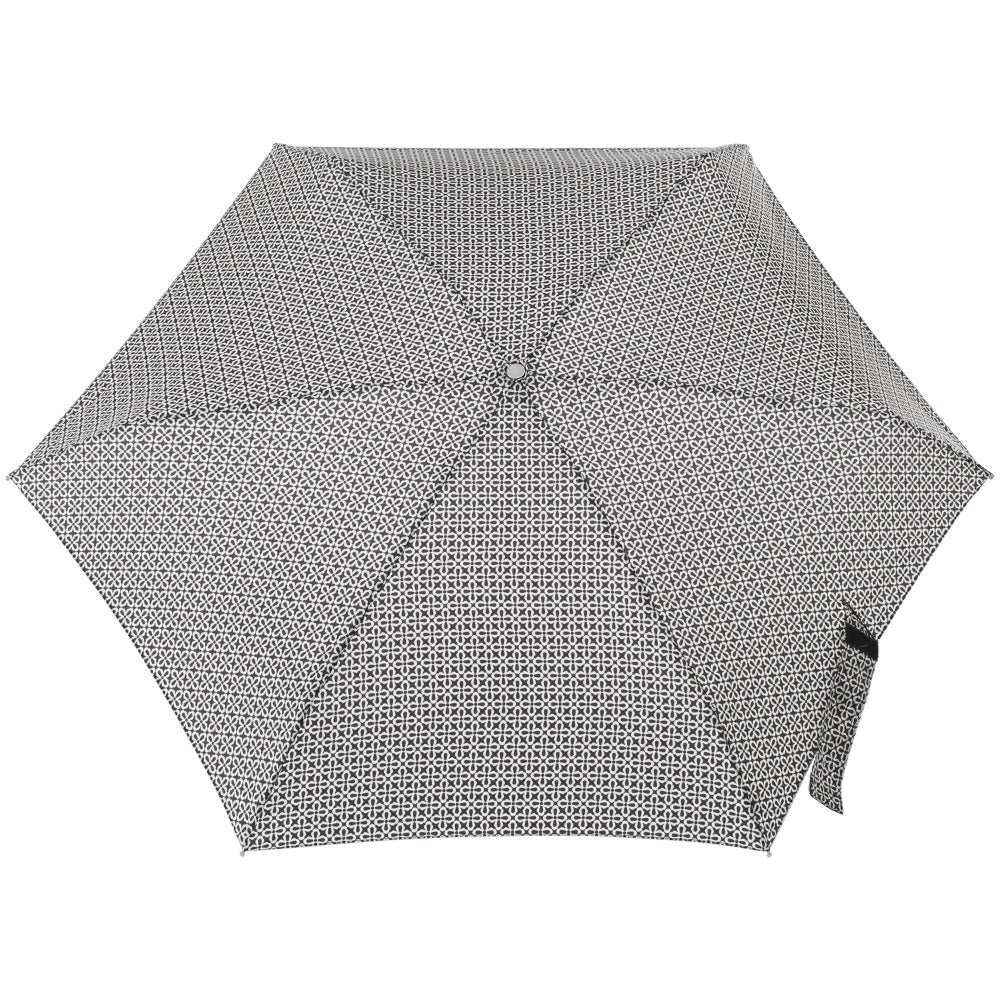 Mini Manual Umbrella With Neverwet in Nordic Status Open Top View