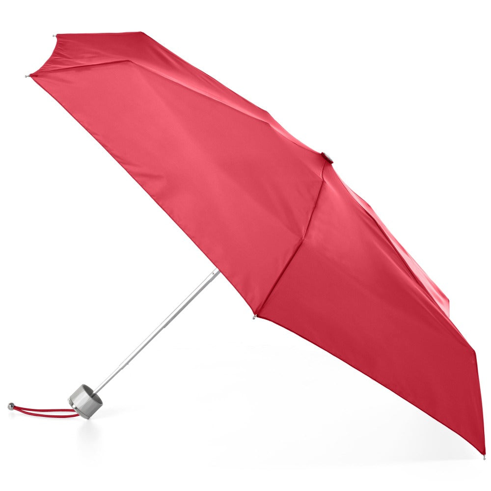 Mini Manual Umbrella With Neverwet in Red Open Side Profile