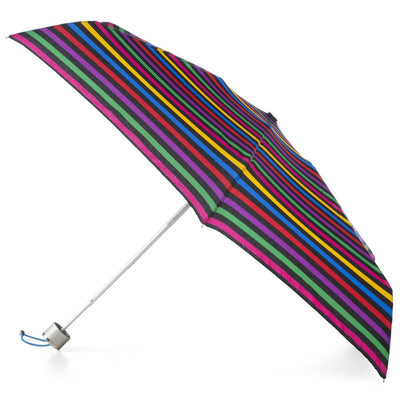 Mini Manual Umbrella With Neverwet in Stripe Hue Open Side Profile