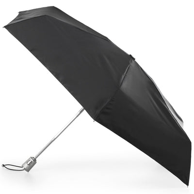 Mini Auto Open Close Neverwet And Sunguard Umbrella in Black Open Side Profile