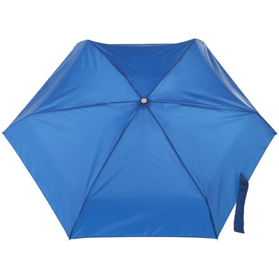 Mini Auto Open Close Neverwet And Sunguard Umbrella in Blue Open Top View