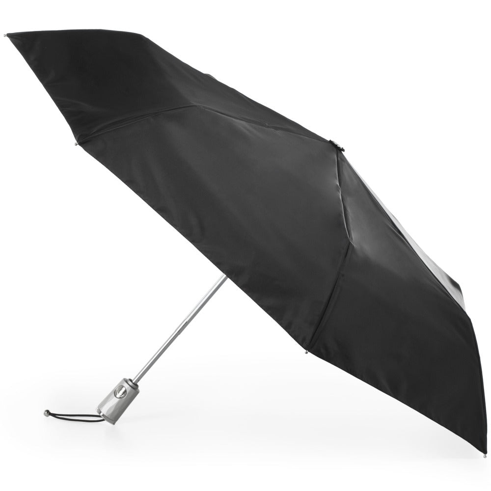 Sunguard Auto Open Close Umbrella With Neverwet in Black Open Side Profile