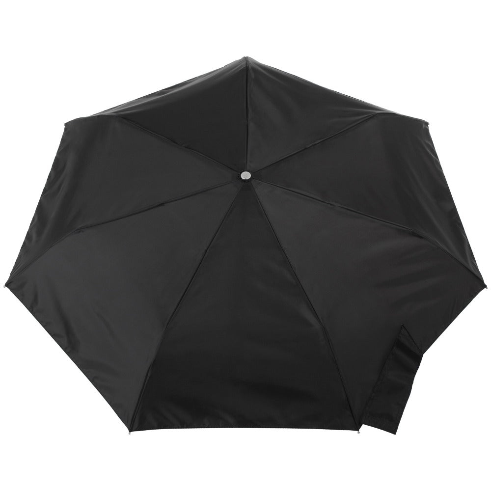 Sunguard Auto Open Close Umbrella With Neverwet in Black Open Top View