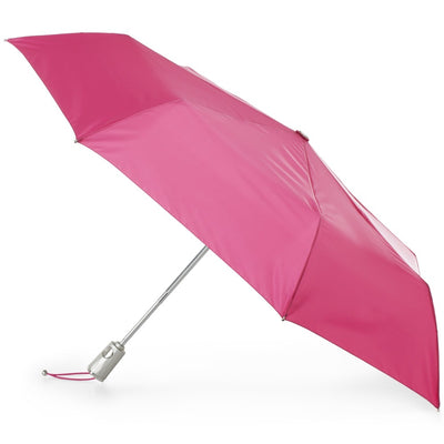 Sunguard Auto Open Close Umbrella With Neverwet in Magenta Open Side Profile