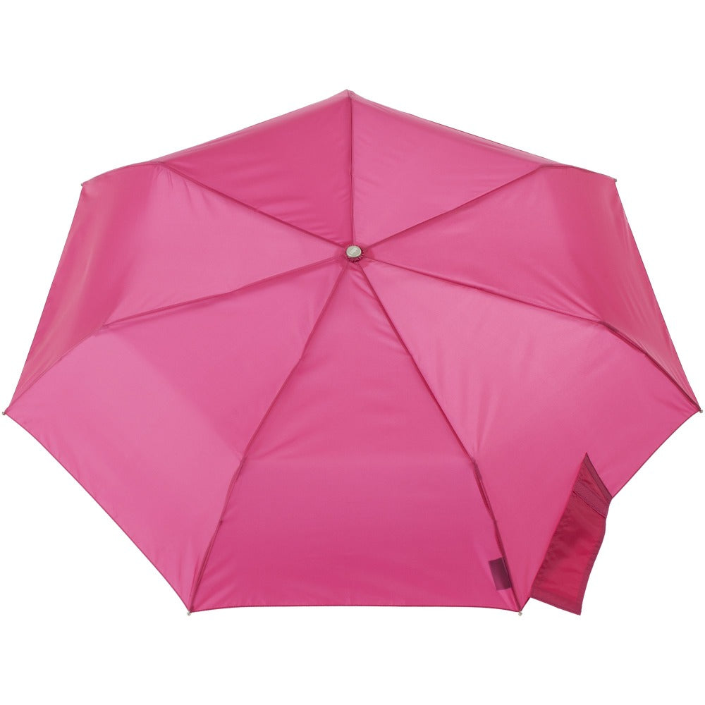 Sunguard Auto Open Close Umbrella With Neverwet in Magenta Open Top View