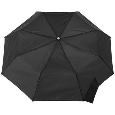 Signature Auto Open Umbrella With Neverwet in Black Open Top View
