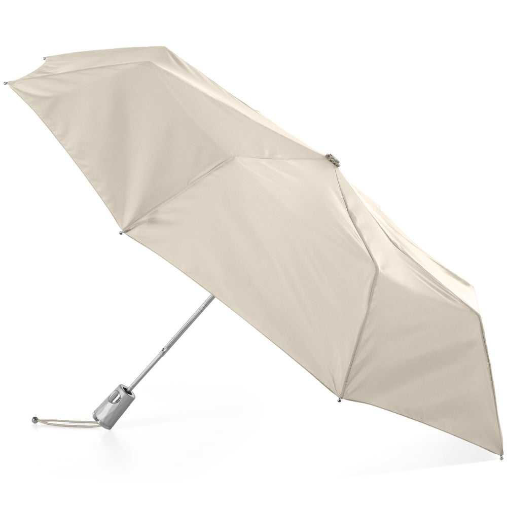 Signature Auto Open Umbrella With Neverwet in Khaki Open Side Profile