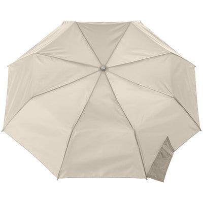 Signature Auto Open Umbrella With Neverwet in Khaki Open Top View