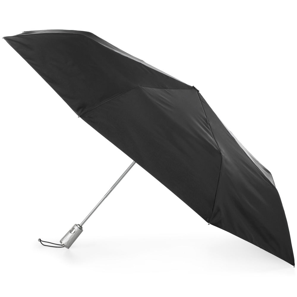 X-Large Auto Open Close Sunguard® Neverwet® Umbrella in Black Open Side Profile