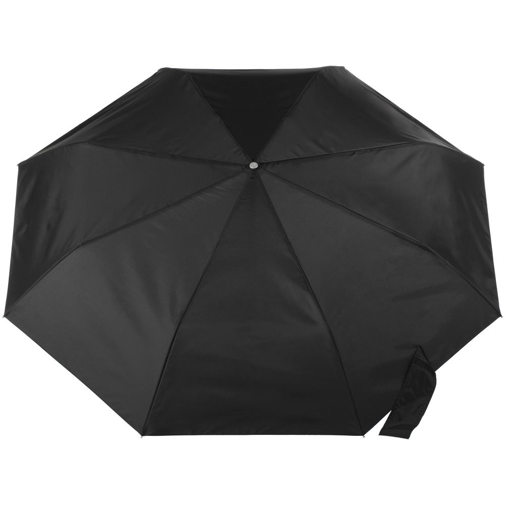 X-Large Auto Open Close Sunguard® Neverwet® Umbrella in Black Open Top View