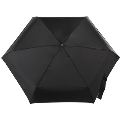 Titan Mini Manual Umbrella with NeverWet in Black Open Top View