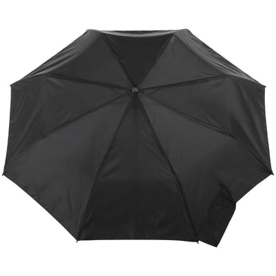 Titan Large Auto Open Close Neverwet Umbrella in Black Open Top View