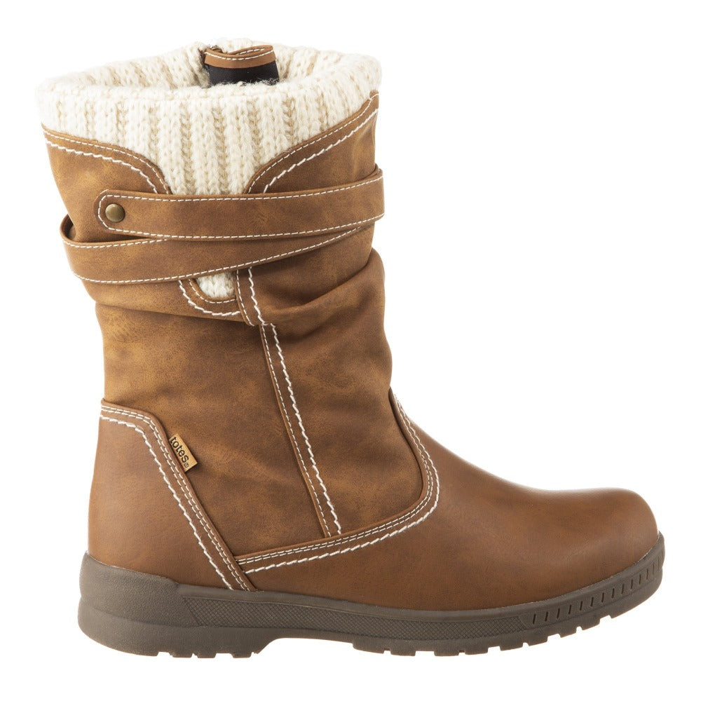 Women's Kappa Winter Boots in Tan Profile