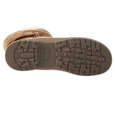 Women's Kappa Winter Boots in Tan Bottom Sole Tread