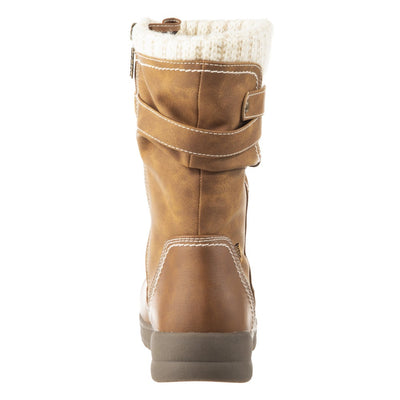 Women's Kappa Winter Boots in Tan Back